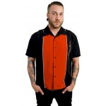 "Charlie Sheen Shirt ""Three Kings Button Up"" Schwarz Rot - ST34526BLKRED"