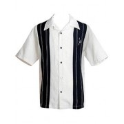 "Charlie Sheen Shirt ""Double Panel Stitch"" Weiß Schwarz - CL35311STO - LAGERWARE"