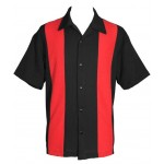 "Charlie Sheen Shirt ""POPLIN MINI PANEL"" Rot Schwarz - ST37055"