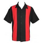 "Charlie Sheen Shirt ""POPLIN MINI PANEL"" Rot Schwarz - ST37055"