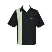 "Charlie Sheen Shirt ""Pop-Check Single Panel"" Schwarz Beige - ST37057"