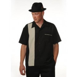 "Charlie Sheen Shirt ""Pop-Check Single Panel"" Schwarz Beige - ST37057"