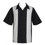 "Charlie Sheen Shirt ""POP CHECK MINI PANEL"" Grau Schwarz - ST37058"