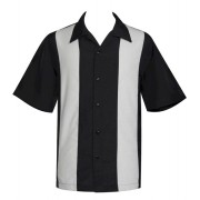 "Charlie Sheen Shirt ""POP CHECK MINI PANEL"" Grau Schwarz - ST37058"