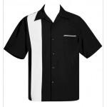 "Charlie Sheen Shirt ""Poplin Single Panel"" Schwarz Weiß - ST37090 - LAGERWARE"